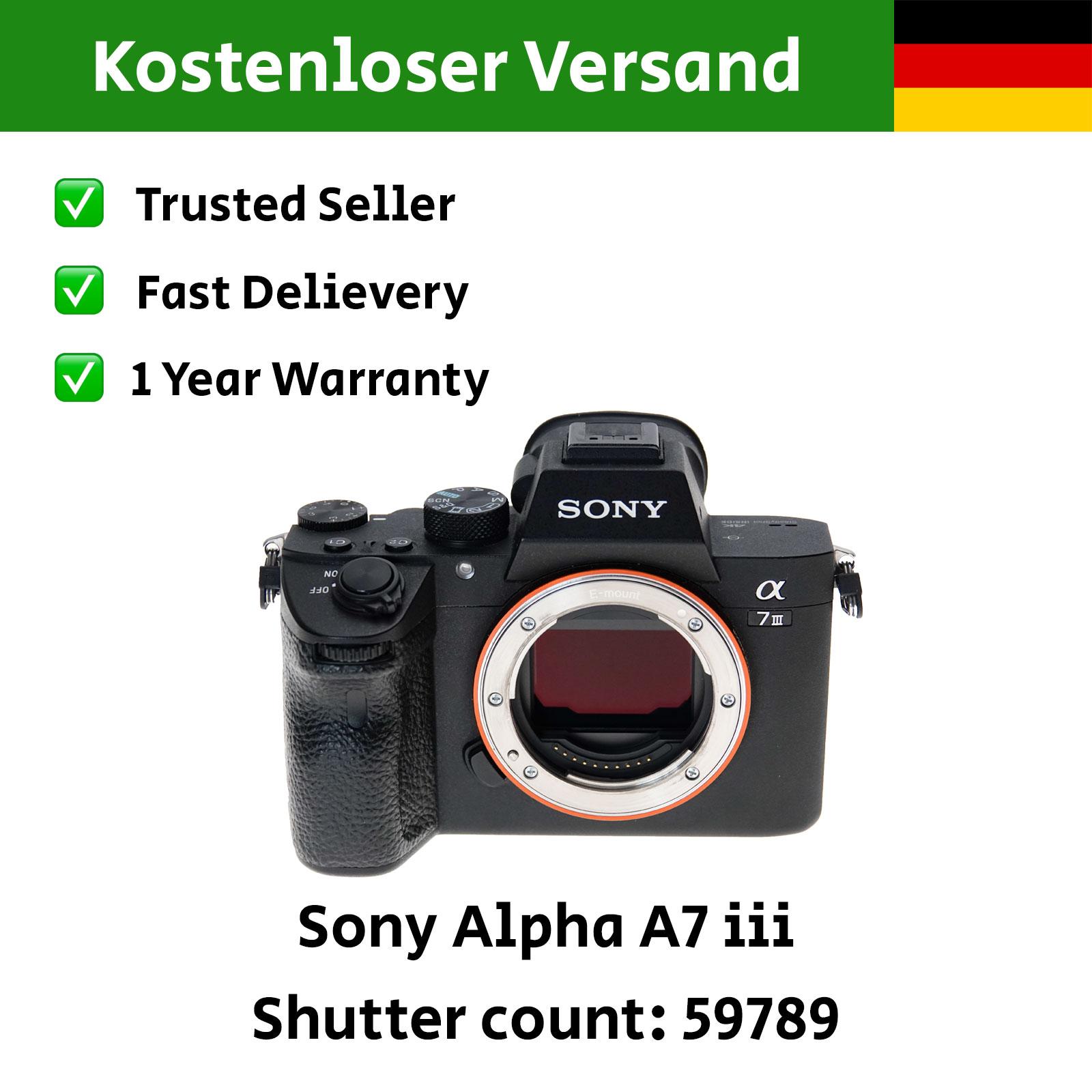 Sony Alpha A7iii Kamera Body Gehäuse DSLR Vollformat A iii Mark 3 -  Hifi-Steinert